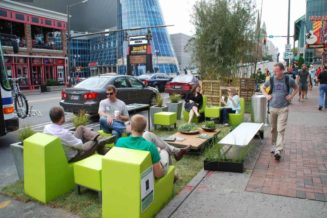 Create a parking space park on PARK(ing) Day