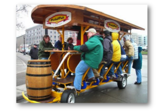 Launch a pedal pub business in downtown Victoria