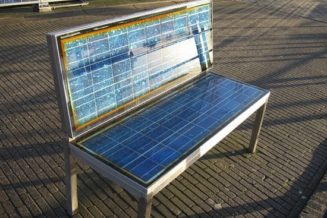 Install a solar energy bench at Earl's Cove