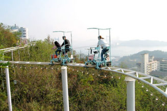 Design and build a set of human powered theme park rides and install in Beacon Hill Park