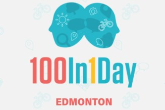 The 100 in 1day placemaking event in Edmonton