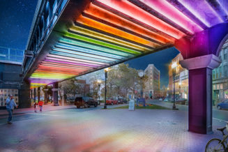 A community supported underpass lighting project north of Boston