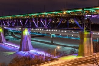 The Light the Bridge Project in Edmonton