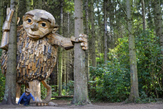 Recycled wood giants in Copenhagen