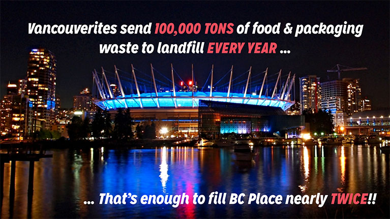 Vanouverites send 100,000 tons of food & packaging to landfill every year