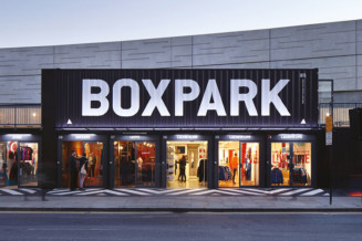 Boxpark Shoreditch, the world's first pop-up mall