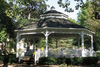 An outdoor gazebo where we can gather for events: Christmas, Rememberance Day, weddings etc.