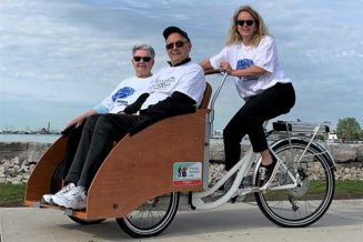 "Purchase a special electrically assisted bicycle called a ""trishaw"" to take seniors for bike rides."