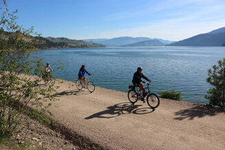 A multi use trail from town to the lake would bring tourism dollars plus fun for locals!!