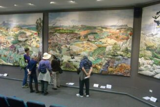 Large scale textile quilted project that showcases our landscapes with virtual reality presentations