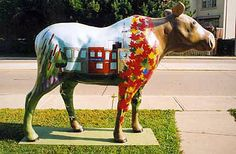 The fibreglass decorated moose program in Toronto, years ago. I'm thinking camels here.