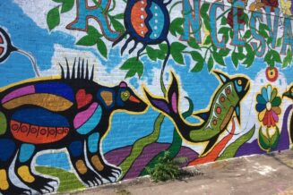 Paint a mural on the side of KC's – a nice back drop to the farmers market and celebration of region