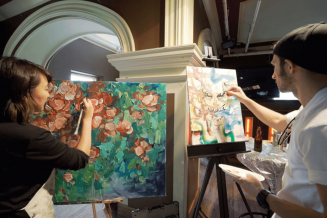 Promote the visual arts and design among the public at large and the artistic community