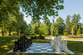 Build a giant outdoor chess set