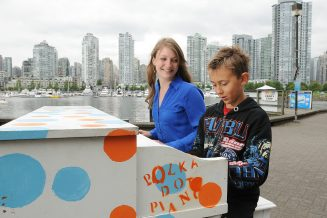 Place public pianos around campus and have UHE students decorate them.